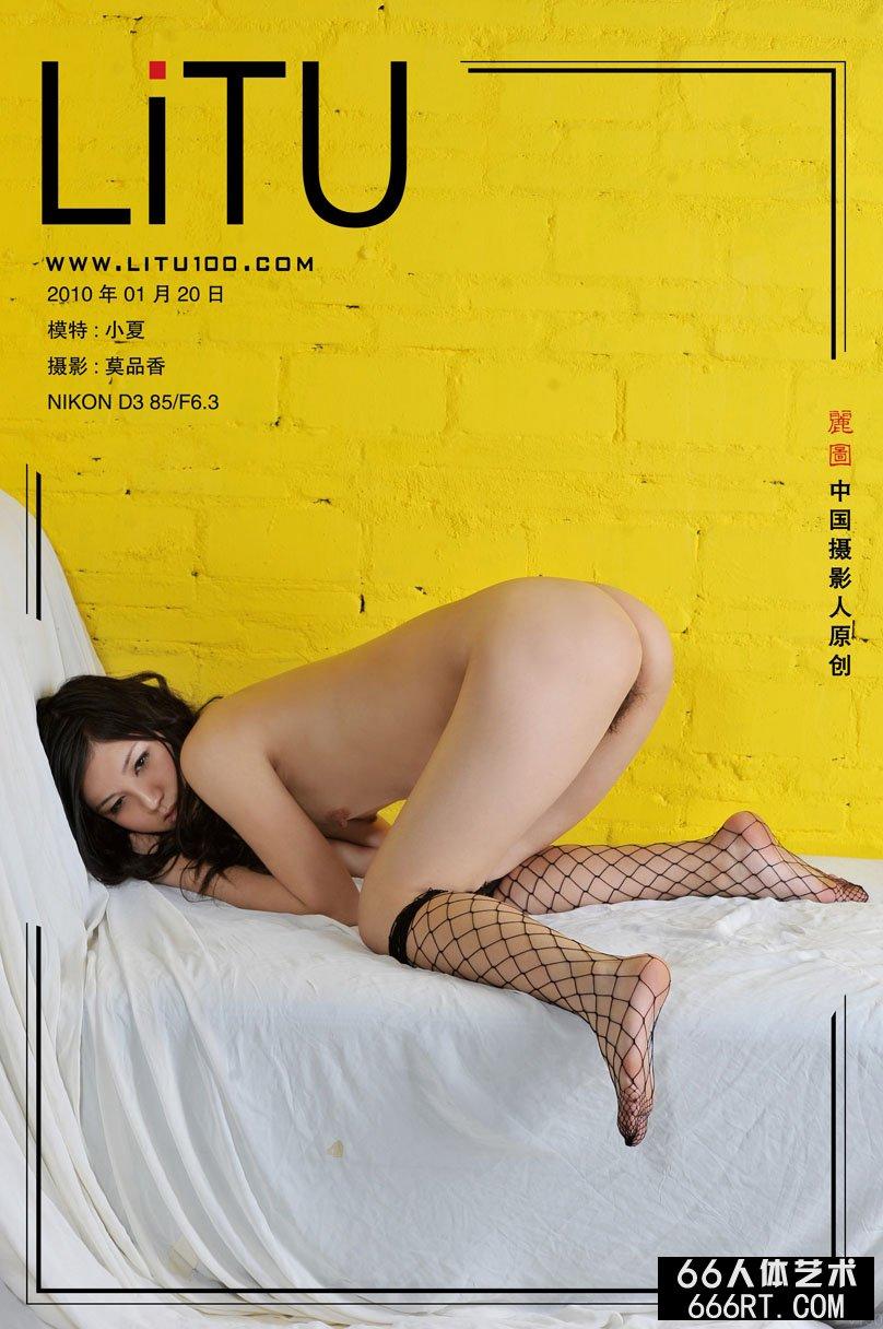 裸模小夏10年1月20日室拍超性感丝袜袜