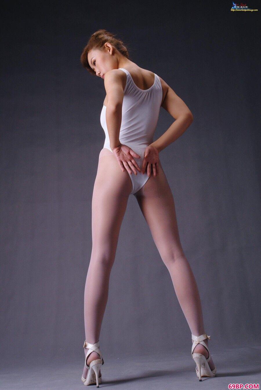 蓝依吊带袜与美丽内裤造型